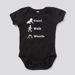 Crawl Walk Wrestle Baby Bodysuit